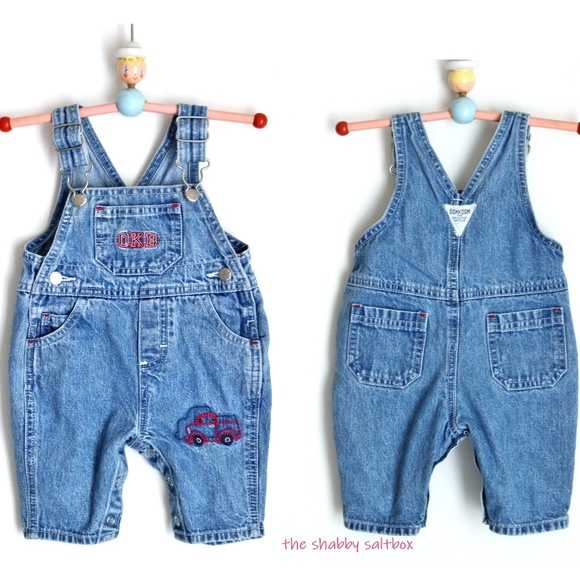 PLAID NWT OSHKOSH B/'GOSH BABY BIB SHORTALLS BABY BOYS SZ 18 MONTHS